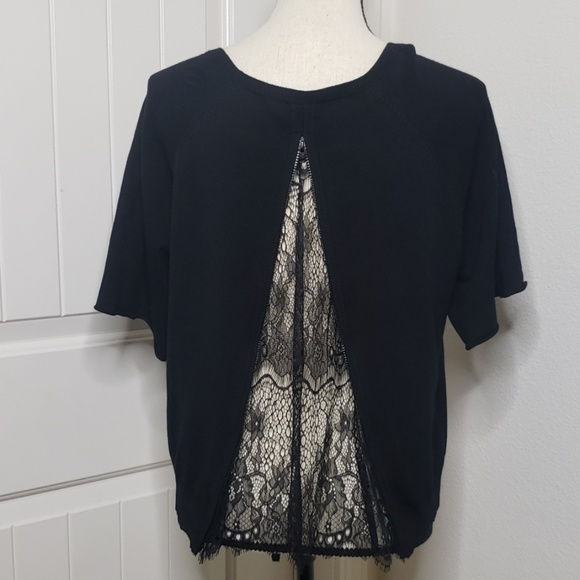 Carmen Marc Valvo Sweaters - Black lace sweater